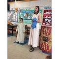 She showed us items that the Roman Army used.