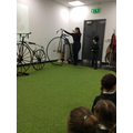 We learnt about the Penny Farthing.