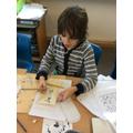 Writing in hieroglyphics