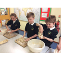 Making homemade rosemary bread