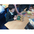 Playing shut the box-maths game with a difference