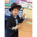 Our very own Indiana Jones making a shabti!!