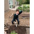 Phew! Gardening is hard work!