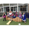 Walking the plank - our lovely new blocks!