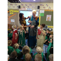 Even Ms Wilson tried on a sari!