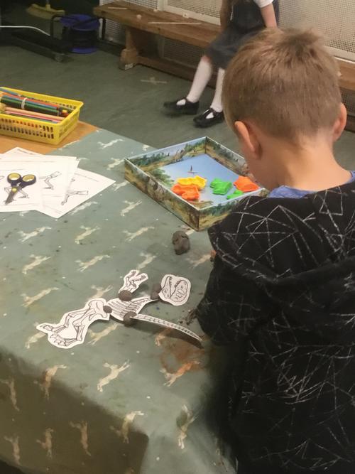 Dinosaur Clay Modelling