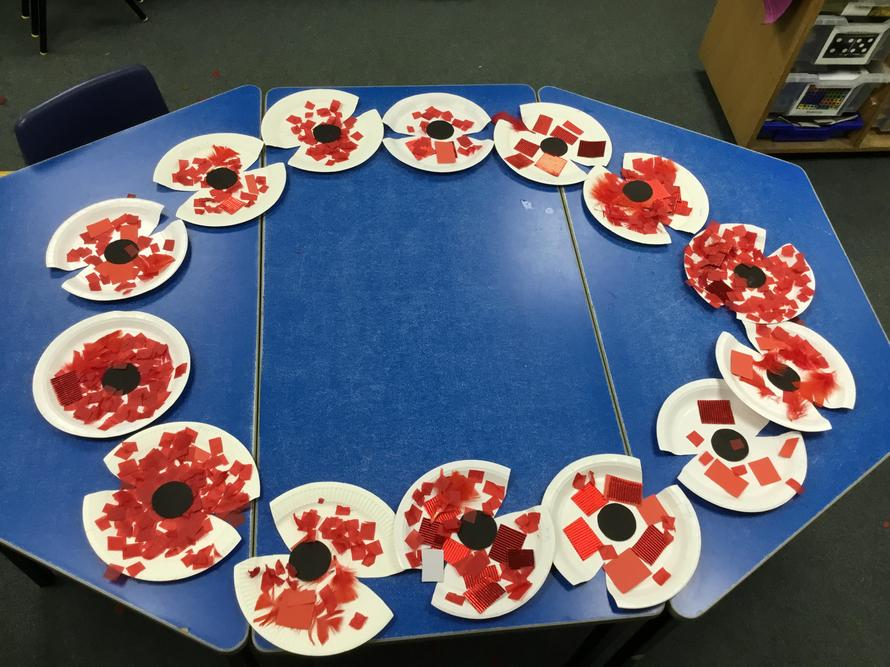 The poppies we made to take home
