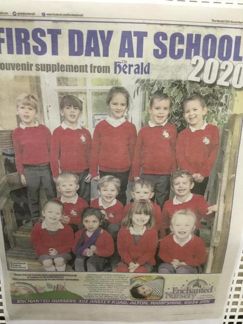 Oak Class were on the front page of the Herald!