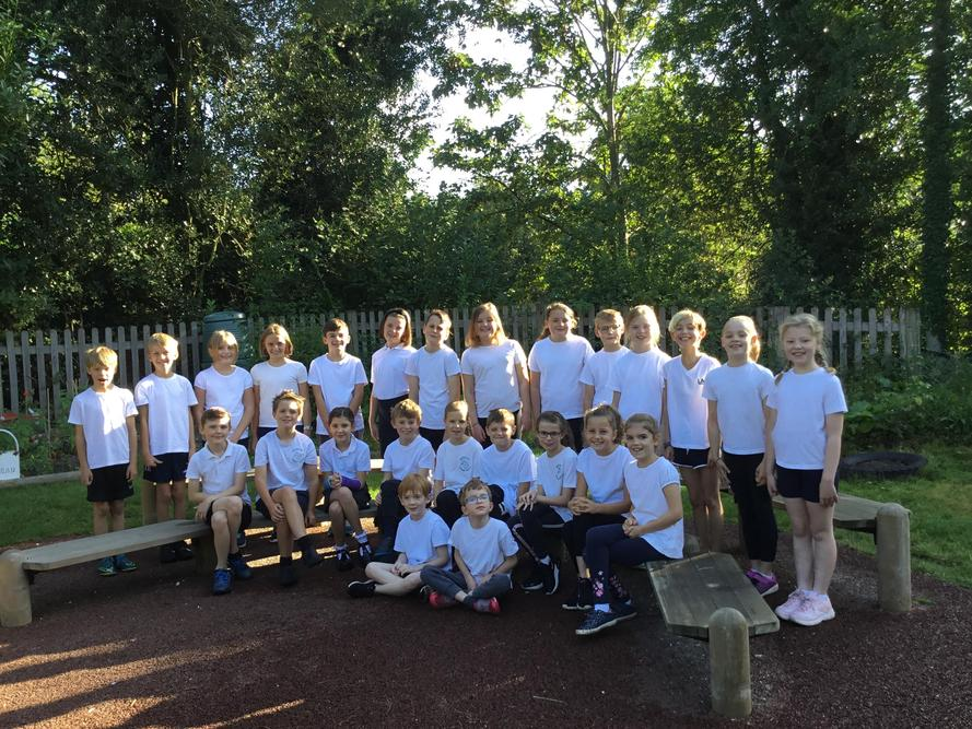 Looking smart in our PE kit