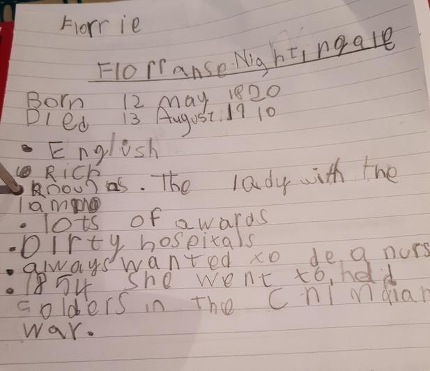 Florrie on Florence Nightingale.