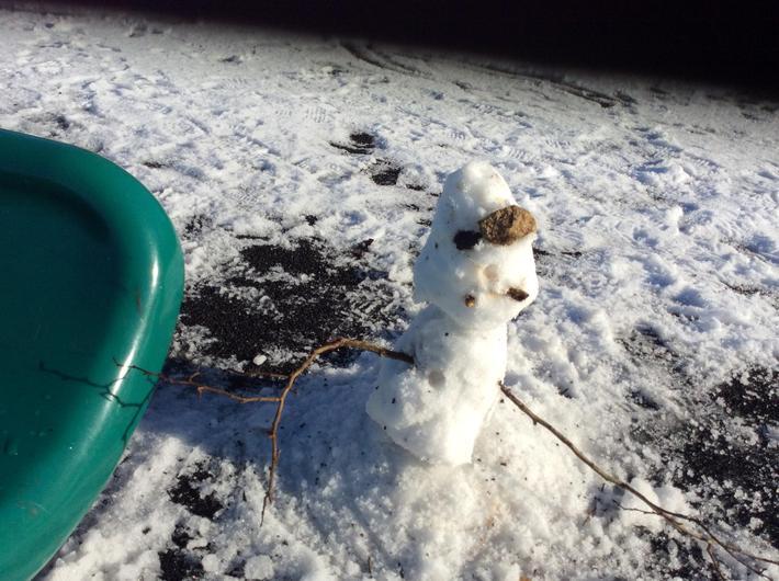 We made a snowman...