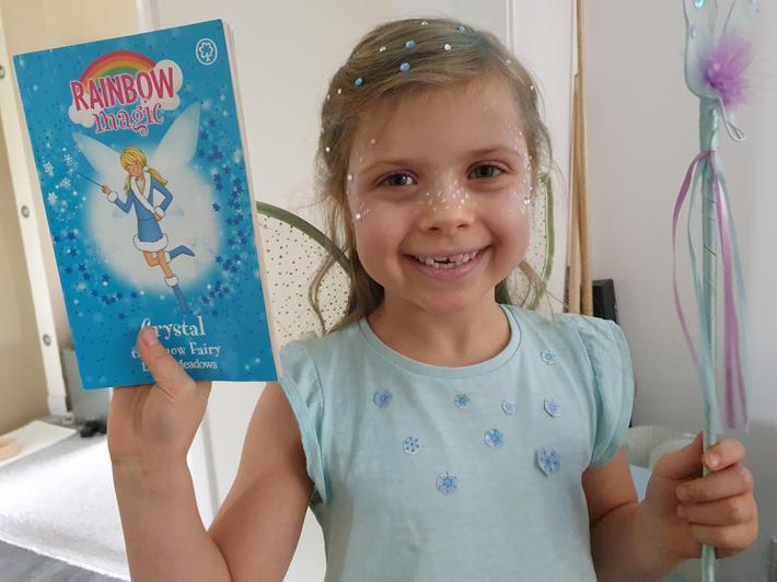 Megan is Crystal the Snow Queen!