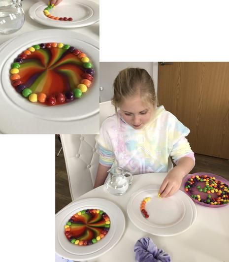 Emily's rainbow experiment.