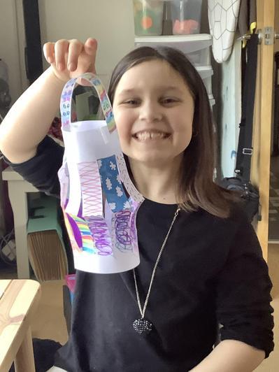 Alice looks happy with her lantern!