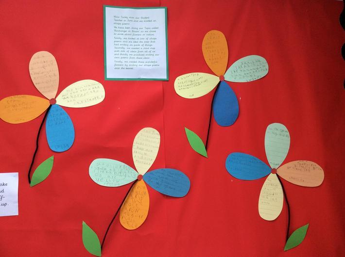 Birchanger in bloom shape poems.