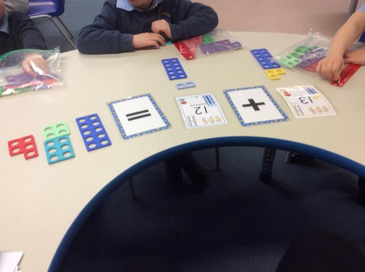 Adding two digit numbers.
