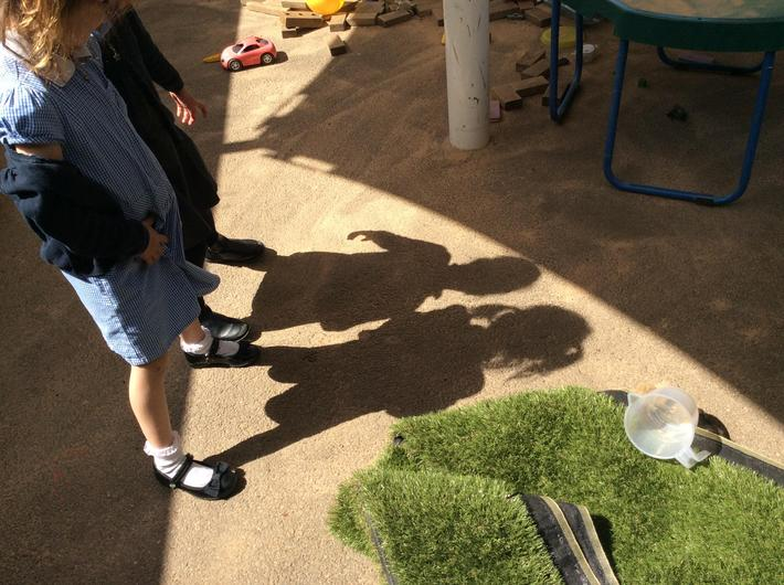 Investigating shadows.