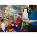 Santa came to visit us!