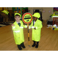 We helped the children cross the road safely.