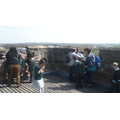 At the top of the tower