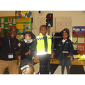 We dressed as Police Officers who can also help us