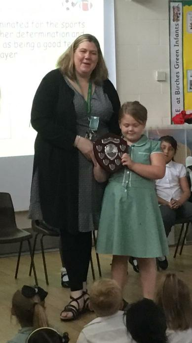 The Sports Award, determination & enthusiasm.