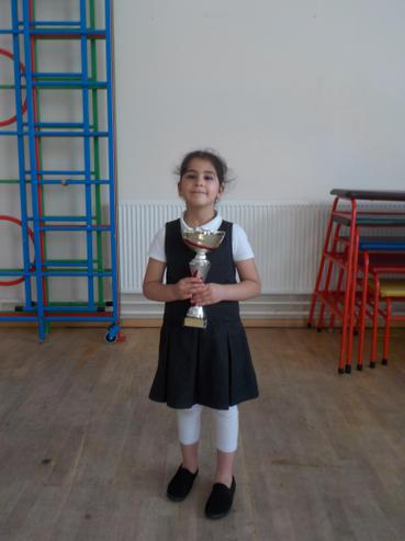 Class 1D won the attendance cup with 100%