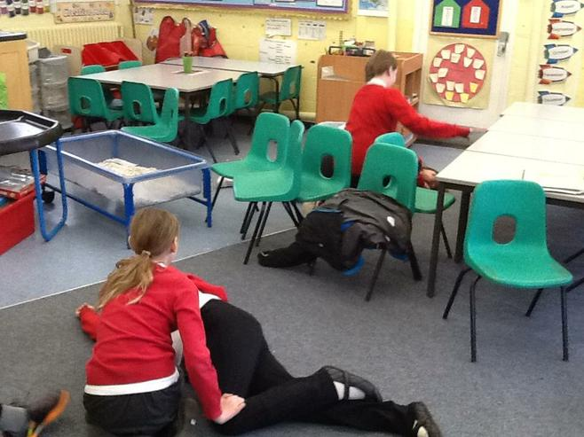 We place them in the recovery position