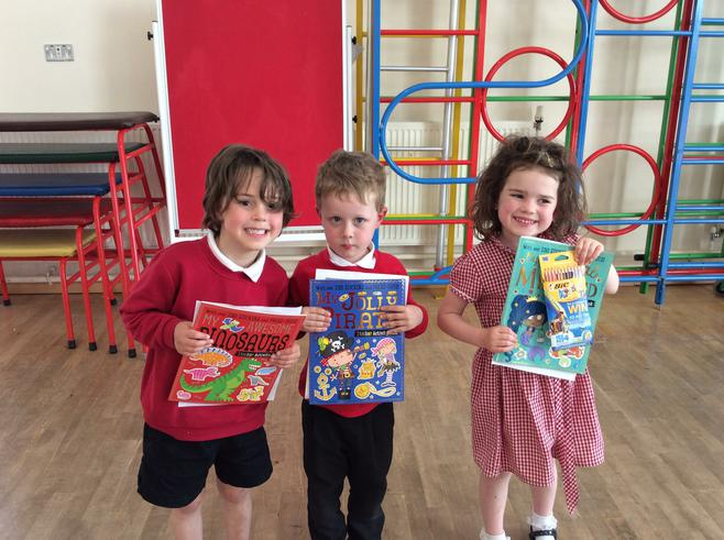 Reception reading in strange places Winners.