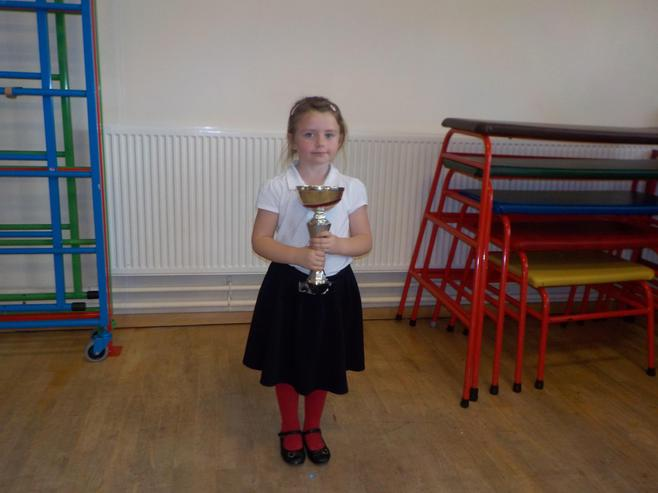 Class 1B won the attendance cup with 100%