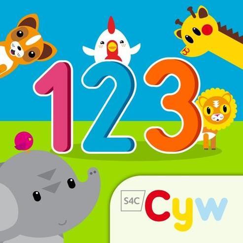 Cyfri gyda Cyw app