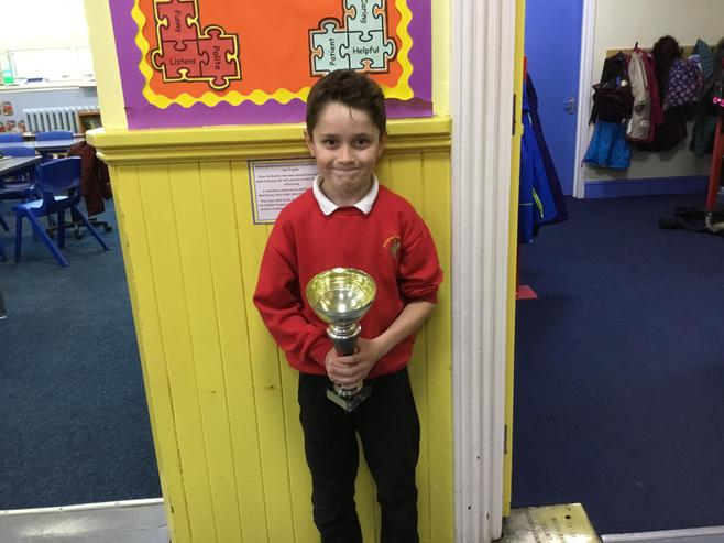 5B won the attendance cup.