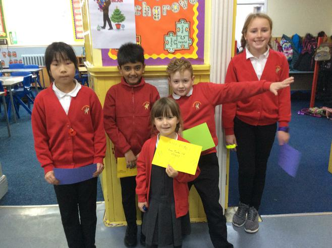 Winners of the Road Safety Competition.