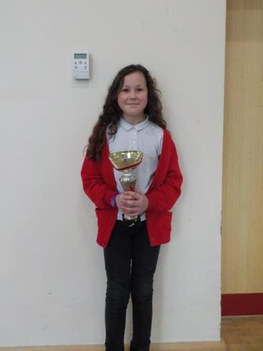 Class 6V won attendance cup with 100%
