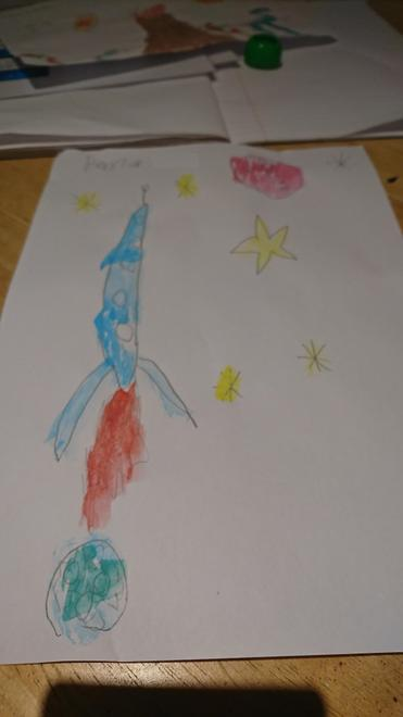 Space drawing by Baxter, 3E