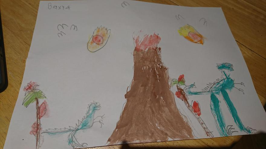 Dinosaur painting by Baxter, 3E