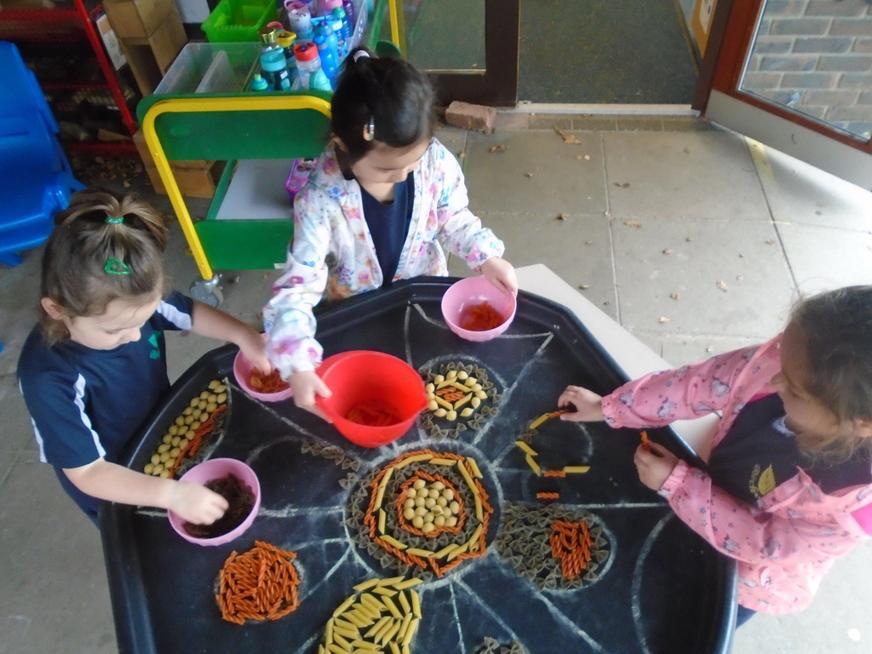 Creating Rangoli patterns (EYFS)