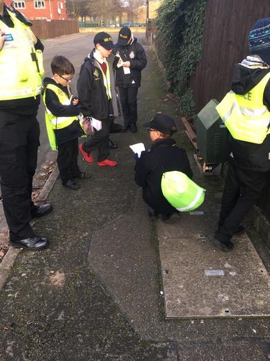 Mini Police patrolling the Birchwood community for criminal damage