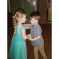Dancing partners.