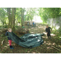 using the tarps for our den