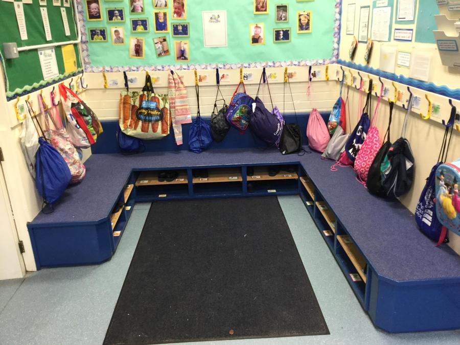 You hang your coat up here when you come in to Nursery.