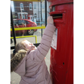 Posting our letters home written in English