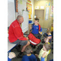 Mr Simpson came to talk to us all about the post