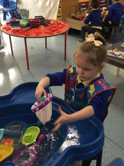 Water play....catching fish!