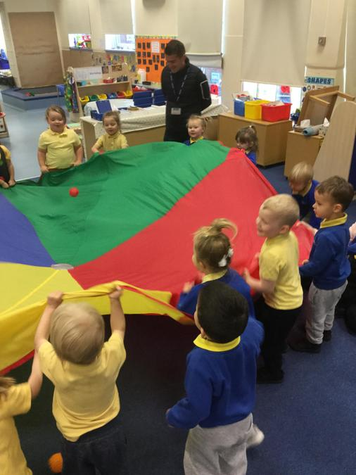Fun with the parachute!