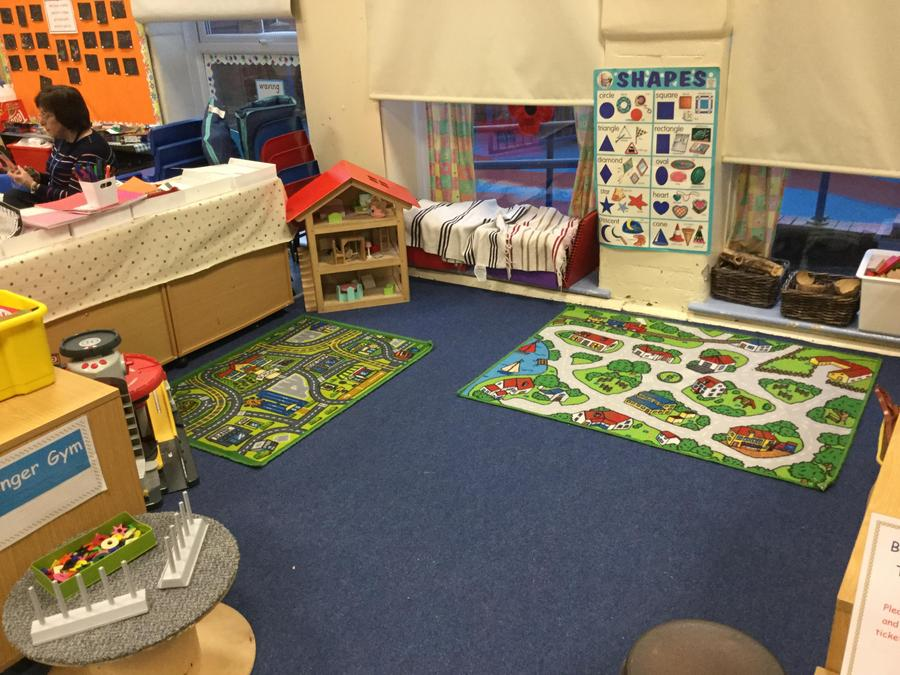 We have lots of places where you can play with your new friends in Nursery!