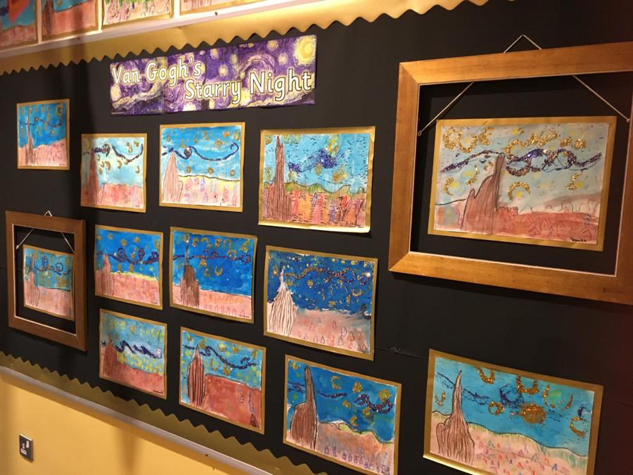 ... Making  images of 'Starry Night' by Vincent Van Gogh.
