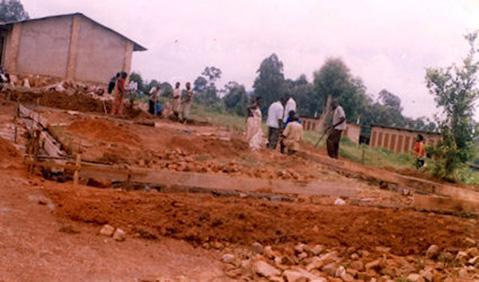 Preparing the site for the two classrooms
