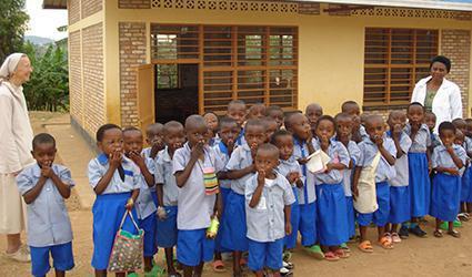 Children saying thank you.