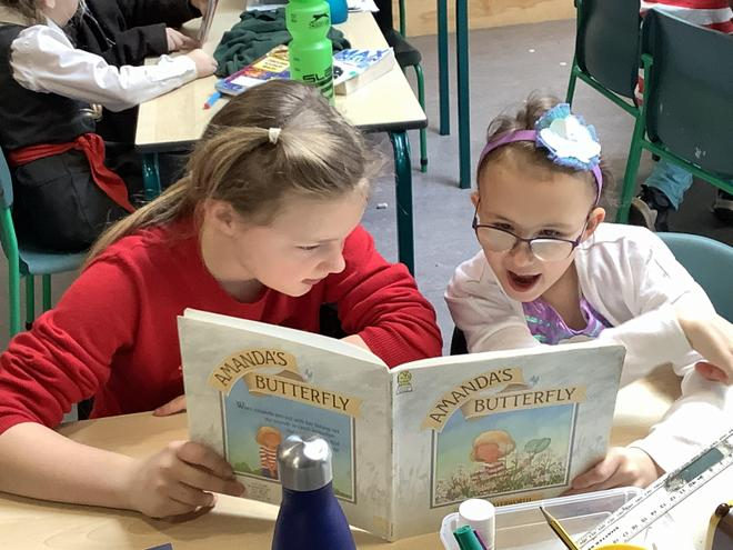 Mixed Key Stage reading on World Book Day